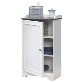 CHOOSEandBUY バスルームフロアキャビネット 調節可能な棚 ホワイト仕上げ キャビネットストレージ バスルームシェルフ ホワイト   B07JZVNSH3