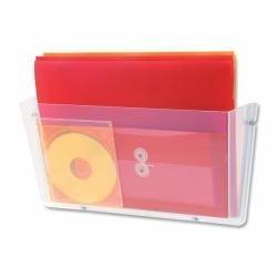 Deflecto 64301 Unbreakable Docupocket Single Pocket Wall File, Legal, Clear