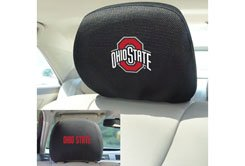 FANMATS 12589 NCAA Ohio State University Buckeyes Polyester Head Rest Cover , 10