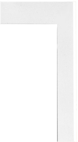 (Swanstone TK-105-010 Solid Surface 6-pieces Shower Trim Kit, 0.25-in L X 3.875-in H X 105-in H, White)