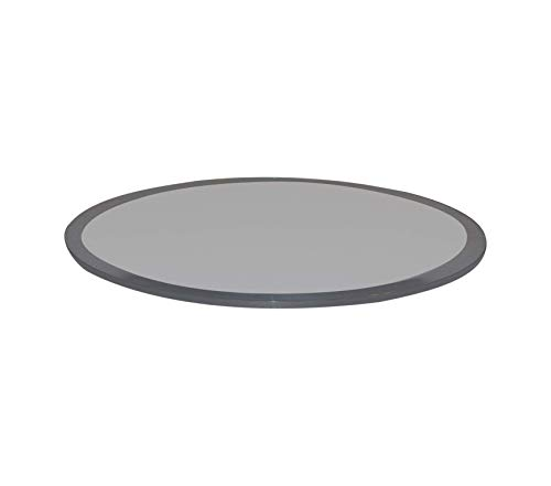 Wood & Style Office Home Furniture Premium Round Grey Glass Table Top, 30