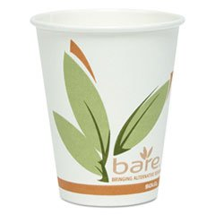 Dart OF8RCJ8484 Bare by Solo Eco-Forward Recycled Content PCF Paper Hot Cups, 8 oz, 500/Carton