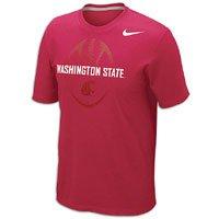 (Nike NCAA Washington State Cougars Football 2012 Team Issue T-Shirt - Crimson (XX-Large))