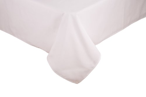 Blue Trains Mth - RIEGEL Permalux Cottonblend 54-Inch by 96-Inch Tablecloth, White