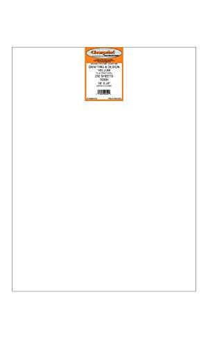 Clearprint 1000H Design Vellum Sheets, 16 Lb., 100% Cotton, 18 x 24 Inches, 250 Sheets Per Pack, 1 Each (10201622) by Clearprint (Image #2)