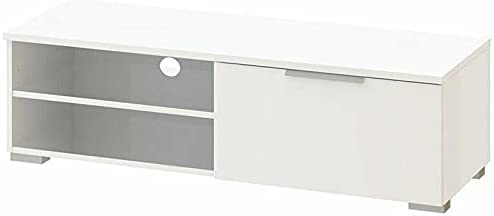 """46"""" TV Stand in White High Gloss Tv Stand Farmhouse Decor Tv Mount Television Stands Tv Stands Tv Table Apartment Essentials Living Room Furniture Tv & Media Furniture Modern Farmhouse Decor Tv Stand"""