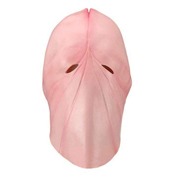 Cosplay Halloween Costume Dick Head Mask Latex Penis Tricky Prank Party Prop - Motorcycle Motorcycle Face Mask - -