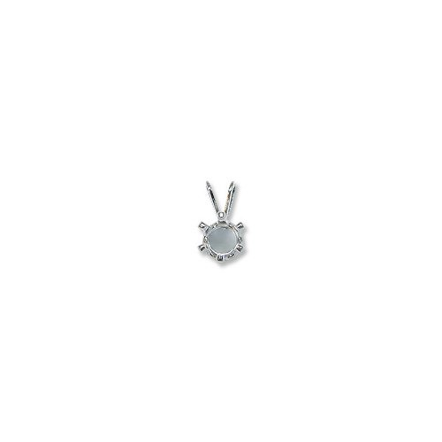 JewelrySupply Snap & Set Pendant 6mm Round 6 Prong Sterling Silver (1-Pc)