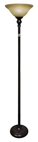 Bronze Penguin - Floor Lamp Bronze/Copper Metal and Glass Featuring Your Favorite Sports Team Logo - Free LED Bulb Included (Penguins)
