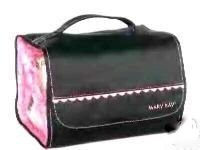 9e4f37558573 Mary Kay Travel Roll Up Bag with PINK RUFFLE TRIM ~ 4 Removable Pouches +  Hanger To Hang Anywhere!