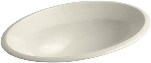 KOHLER K-2264-47 Centerpiece Self-Rimming Bathroom Sink, Almond