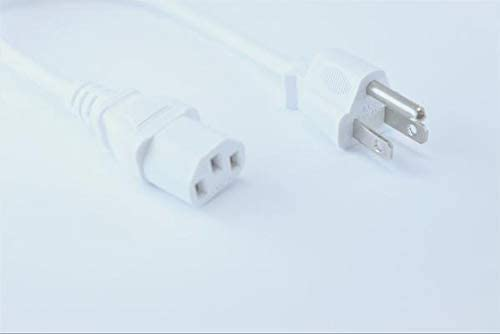 [UL Listed] OMNIHIL White 8 Feet Long AC Power Cord Compatible with KEF X300A Wireless Speaker