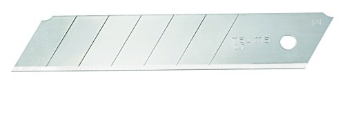 "TAJIMA Utility Knives & Blades - 20-pack 1"" Rock Hard Box Cutter Snap Blades with Premium Tempered Steel & Ultra-Sharp Edge - LCB-65-20"
