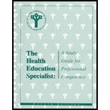 The Health Education Specialist: A Study Guide for Professional Competence