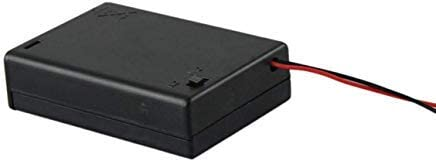 1pc 3 AA 2A Battery 4.5V Holder Box Case with Switch Lead Black Hot