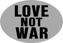 Knockout 569H Love Not War Hitch Cover