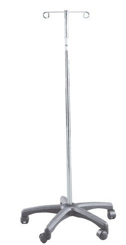 Drive Medical (a) I.V. Stand 2 Hook - 5 Leg by Drive Medical