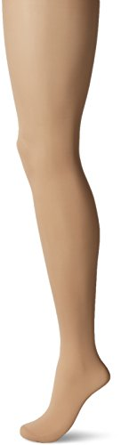 HUE Women's Sheer Tight with Control Top, Natural, - Nylon Sheer Tights