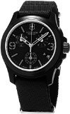 Victorinox Swiss Army Black Dial Black Textile Chronograph Male Watch 241534