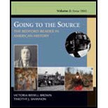 Going to the Source - Bedford Reader in American History, Volume 2 (04) by Brown, Victoria Bissell - Shannon, Timothy J [Paperback (2004)]