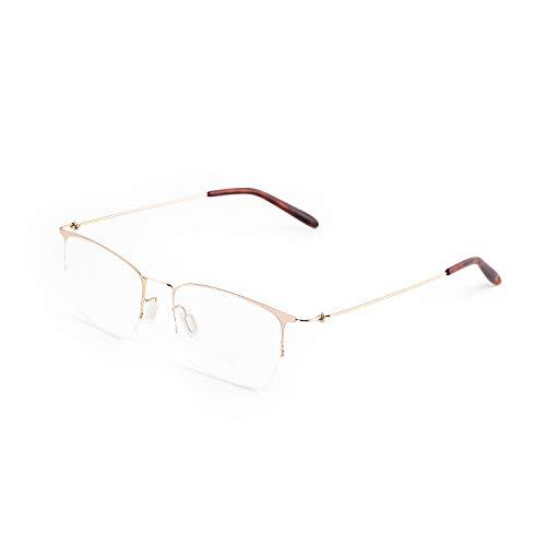 Gechiqno Blue Light Blocking Computer Glasses Anti Digital Eye Strain Headache - Reader Eyeglasses Slim Frame Metal Lightweight [Women ()