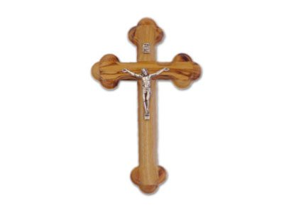 (Olive Wood Cross with Crucifix