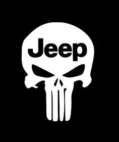 amazoncom punisher skull w jeep logo premium decal 5