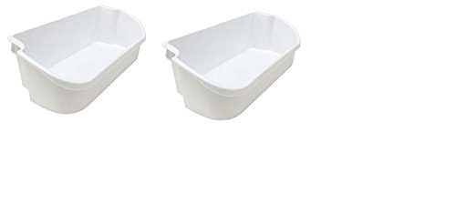 240356401 - 2 Pack White Refrigerator Bin for Electrolux Refrigerator by ENDEAVORING