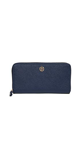 Tory Burch Women's Robinson Zip Continental Wallet, Royal Navy, Blue, One Size ()