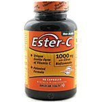 American Health Ester-C 1 000 mg with Citrus Bioflavonoids 90 capsules - 3PC