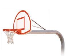 最初チームBrute Max steel-aluminum in ground固定高さバスケットボールsystem44 ;コロンビアブルー B01HC0E4PC