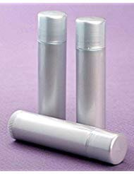 50 New Empty LIGHT SILVER Lip Balm Tubes - 0.15oz (Chapstick containers) ()