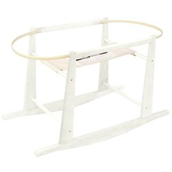 Moses Basket Stand - Color: White - Rocking Moses Stand