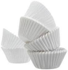 1000 Pure White JUMBO LARGE SIZE Cupcake Muffin Liners Baking Cups Wrappers