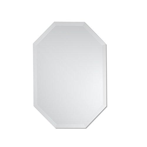 Small Octagon Mirror | Frameless Beveled Mirror | Bathroom, Vanity, Bedroom Mirror | 20-inch x 28-inch (Frameless Small Mirrors)