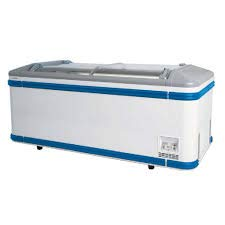 Lid Display Freezer - AHT MALTA 185 Commercial Ice Cream Display Chest Freezer with Glass Lid Top and Interior Lighting, White