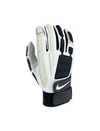 Nike D-Tack Demolition III Large Leather Football Gloves in Black and Gray
