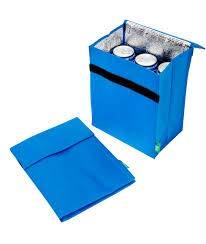 Mini bolsa t/érmica ecol/ógica para aperitivos escuela o trabajo s/ándwich 28 x 20 x 14 cm 28 x 20 x 14cm azul enfriador plegable para el almuerzo bebidas