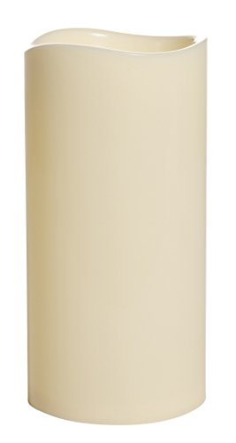 Flower Power 9815 LED-Outdoor Kunststoff-Kerze Molto, große