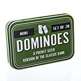Travel Game Set - Mini Pocket Sized Dominoes Travel Game - Set of 28 Dominoes