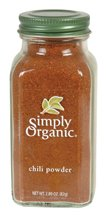 Simply Organic Chili Powder Certified Organic, 2.89-Ounce Containers  (Pack of 3)
