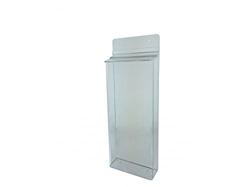 "Marketing Holders Outdoor Brochure Holder 4-1/2"" x 10.5"" x 2"" Clear Acrylic Wall Mounting Literature Dispenser (Set of 2) – Lucite Pamphlet Display Has a Hinged Lid by Marketing Holders"