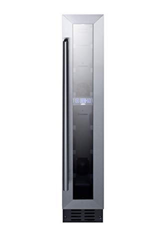 Summit Appliances SWC007 6 in. Wide ADA Compliant Built in Undercounter Wine Cellar with Digital Thermostat & LED Lighting