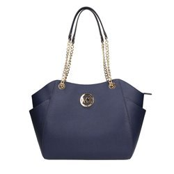 Michael Kors Jet Set Travel LG Chain Navy Blue (Light Blue Michael Kors Handbags)