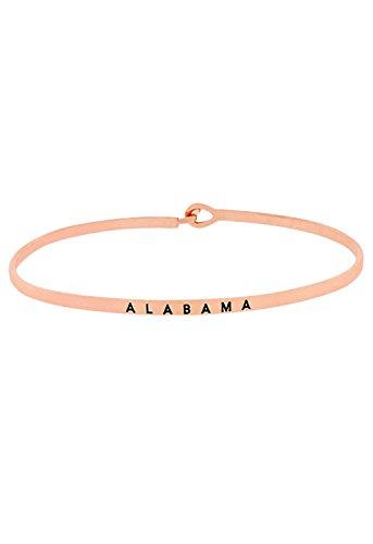 Rosemarie Collections Women's Thin Hook Bangle Bracelet