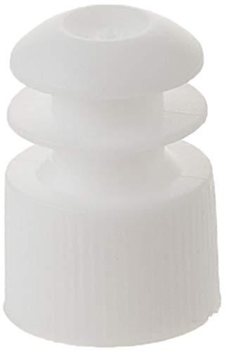 Globe Scientific 118127W Polyethylene Flange Plug Cap for Test Tubes, 12mm Size, White (Pack of 1000)