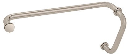CRLサテンクローム( BMシリーズ) 8インチプルハンドル18インチタオルバー組み合わせwith Metal Washers by CR Laurence BM8X18SN B000NY7BDC サテンニッケル サテンニッケル