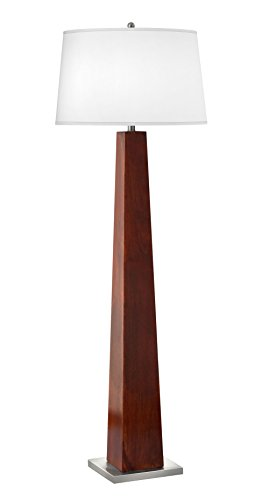 Complements Lighting 60 inch 100 watt Brushed Steel/Cherry Floor Lamp Cherry Brushed Steel
