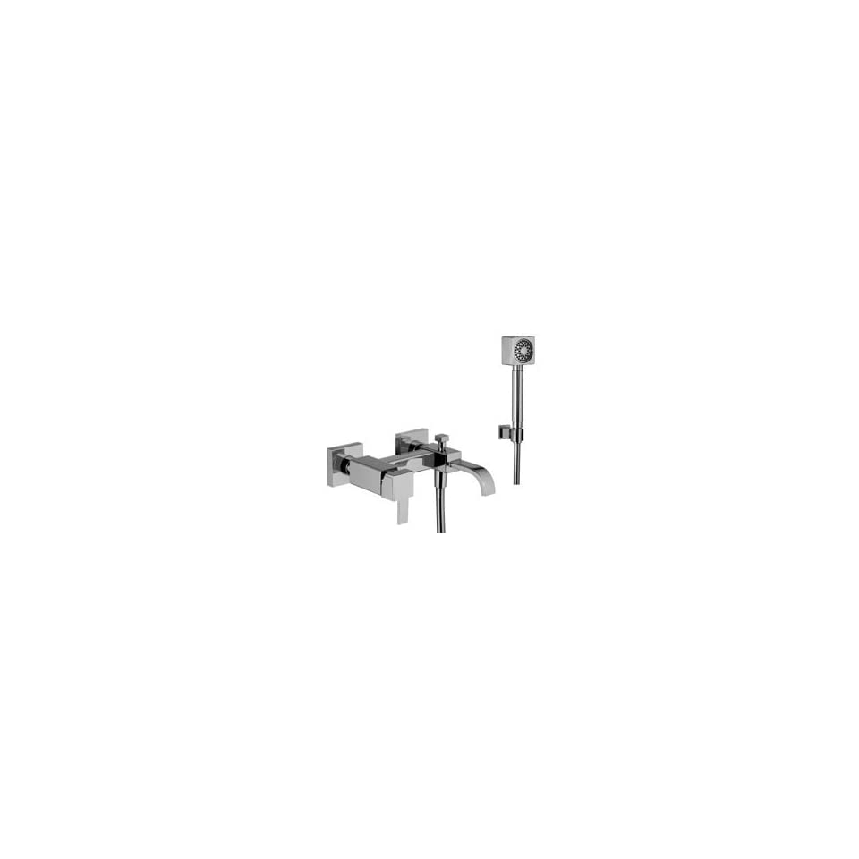 Ponsi 73/1 CR Wall Mounted Chrome Bath Shower Mixer With Flexible Hose