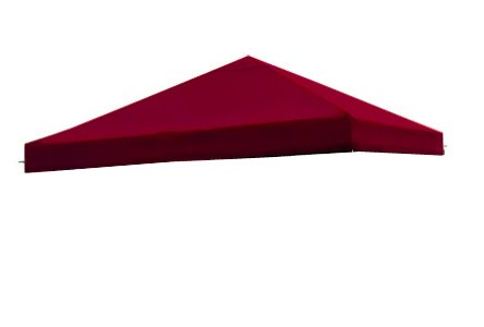 Canopy All Weather (All Weather Heavy Duty RED Color Backyard Patio Single Sun Shade 10x10 Ft Garden Canopy Gazebo Replacement Polyester Top UV Protection Water Resistant Tent)